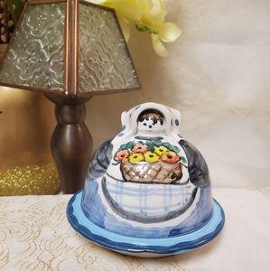 {Vintage}Horchow Covered Trinket Dish